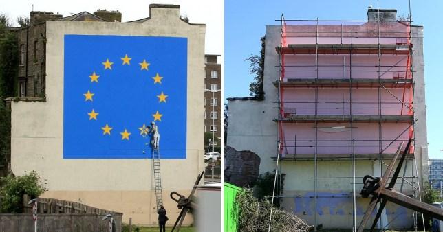 Banksy's Brexit mural