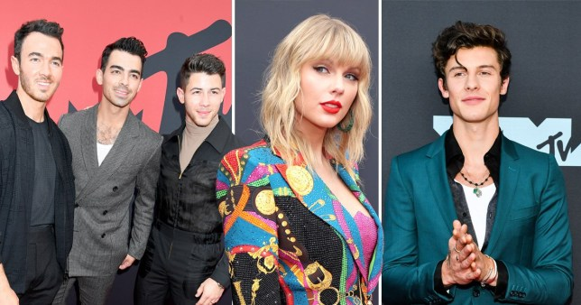 Jonas Brothers, Taylor Swift, Shawn Mendes