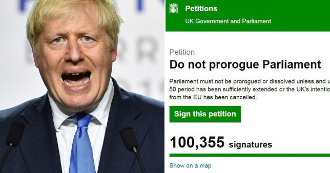 Boris Johnson petition reaches 100,000 signatures (Picture: Getty)