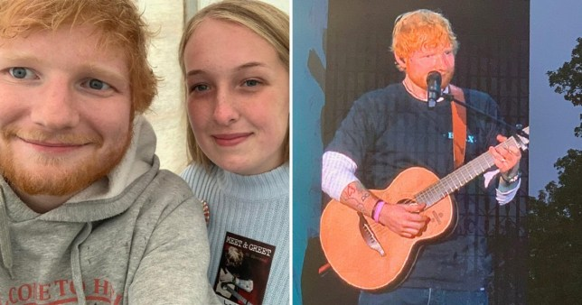 Teenager with brain tumour meets Ed Sheeran