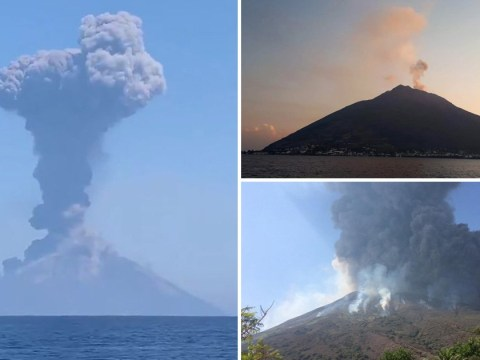 Huge volcanic eruption triggers mini-tsunami in Italy