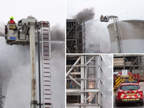 Fire breaks out at power station in Slough