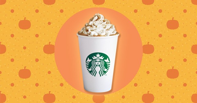 Image result for pumpkin spice latte starbucks holding