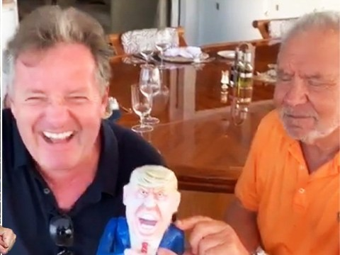 Piers Morgan makes a splash as he has summer of dreams on Lord Sugar's yacht