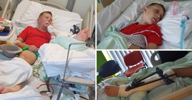 Theo Andrew, 11, who was knocked off his bike in a hit-and-run in Oldham, Greater Manchester