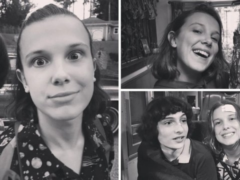 Stranger Things kids are the best of friends in new behind-the-scenes pictures