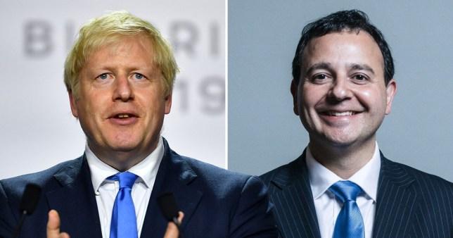 Boris Johnson and Alberto Costa