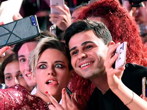 Kristen Stewart poses for memorable selfies with fans as she premieres Seberg in Venice