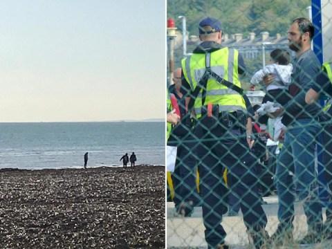 50 suspected migrants, including five children, picked up off Kent coast