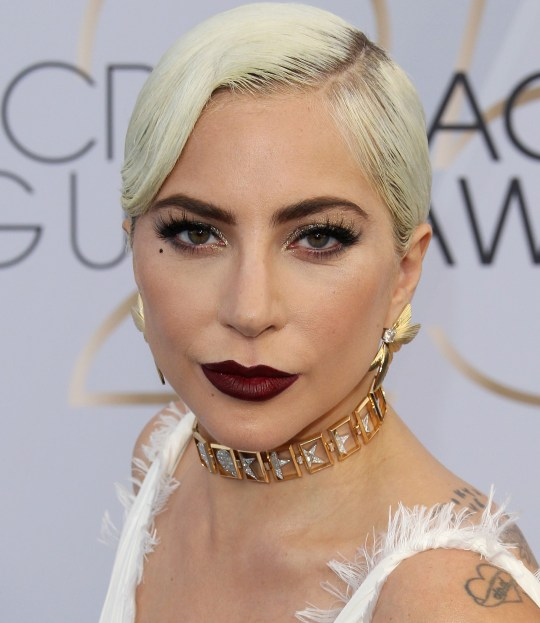 Lady Gaga at the Screen Actors Guild Awards 2019