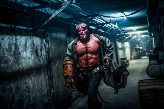 Editorial use only. No book cover usage. Mandatory Credit: Photo by Mark Rogers/Lionsgate/Kobal/REX (10187535r) David Harbour as Hellboy 'Hellboy' Film - 2019 Based on the graphic novels by Mike Mignola, Hellboy, caught between the worlds of the supernatural and human, battles an ancient sorceress bent on revenge.