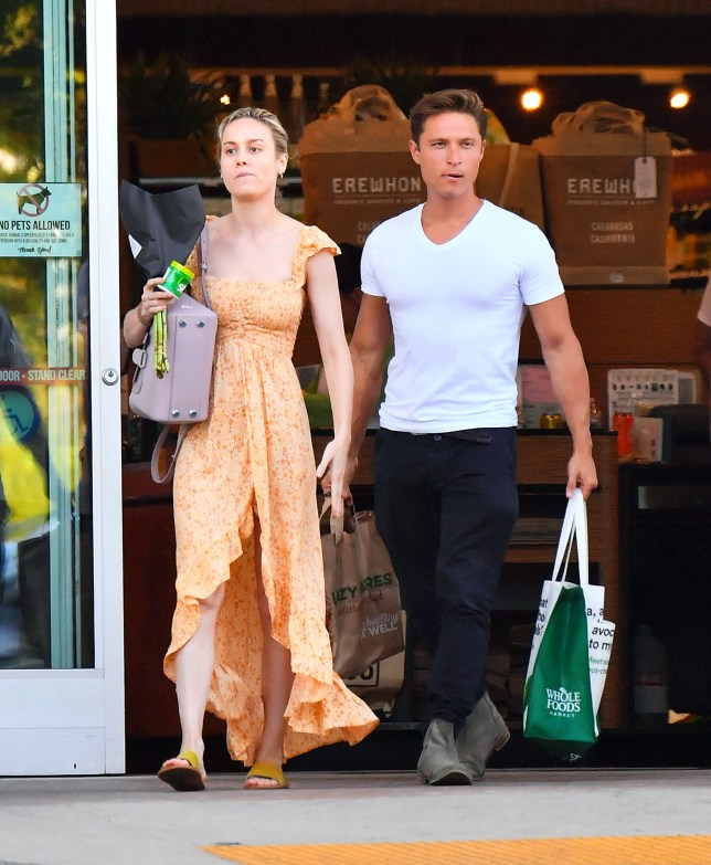 EXCLUSIVE: *NO WEB UNTIL 0030 BST 1ST AUG* Brie Larson was spotted head over heels over a mystery man she is currently dating. The 'Captain Marvel' star couldn't keep her hands off and was seen frequently making out with her mystery man as they grocery shopped at Erewhon in Calabasas, CA. They new couple were also seen making out in the parking lot, then headed over to Malibu where they kissed again then headed into local theater show. 30 Jul 2019 Pictured: Brie Larson was spotted head over heels over a mystery man she is currently dating. The 'Captain Marvel' star couldn't keep her hands off and was seen frequently making out with her mystery man as they grocery shopped at Erewhon in Calabasas, CA. They new couple were also seen making out in the parking lot, then headed over to Malibu where they kissed again then headed into local theater show. Photo credit: Marksman / MEGA TheMegaAgency.com +1 888 505 6342