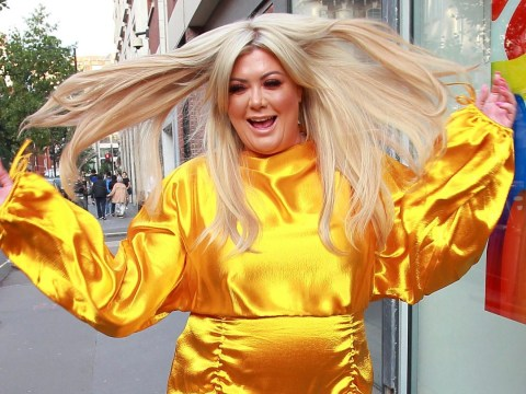 Golden girl Gemma Collins prances through street after 3 stone weight loss following gruelling regime