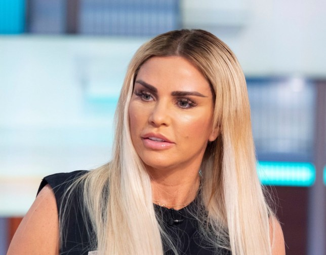 """Editorial use only Mandatory Credit: Photo by Ken McKay/ITV/REX/Shutterstock (10231016be) Katie Price 'Good Morning Britain' TV show, London, UK - 08 May 2019 KATIE PRICE: MY MUM BEGGED NOT TO HAVE MORE SURGERY After undergoing yet more surgery last week in Turkey, which many have said has left her looking like the """"Bride of Wildenstein"""", Katie Price joins us for her first interview. And although she herself doesn't regret the procedures, Katie did compare her new look to """"looking like an alien"""" and has also been warned by surgery experts to stop before it's too late. We have a list of procedures which shows she's had at least 16 since 1998. DESK: Katie Price."""