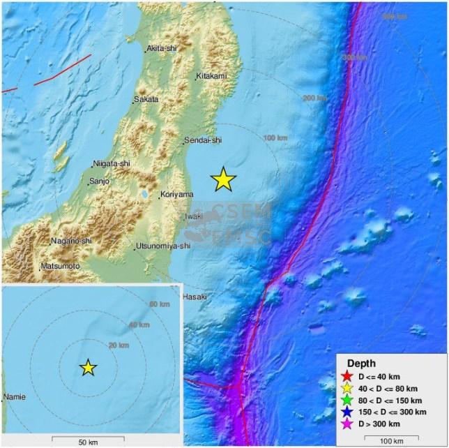 Japan rocked by 6.5 magnitude earthquake off the coast of Fukushima
