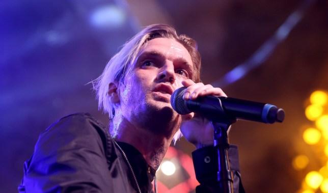 Aaron Carter performing