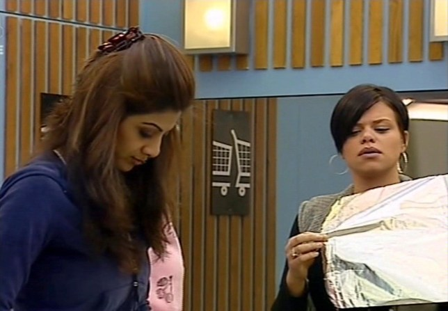 Shilpa Shetty and Jade Goody on Celebrity Big Brother