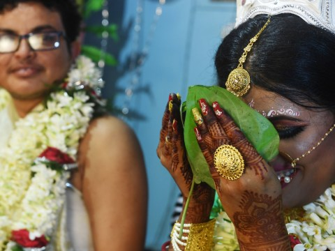Transgender couple from India get married in Calcutta's first 'rainbow wedding'