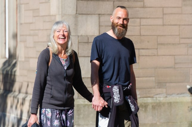 Vivienne Duke and Richard Gould, Forfar Sheriff Court have been travelling by foot and sleeping under the sky for two years (Picture: cascadenews.co.uk)
