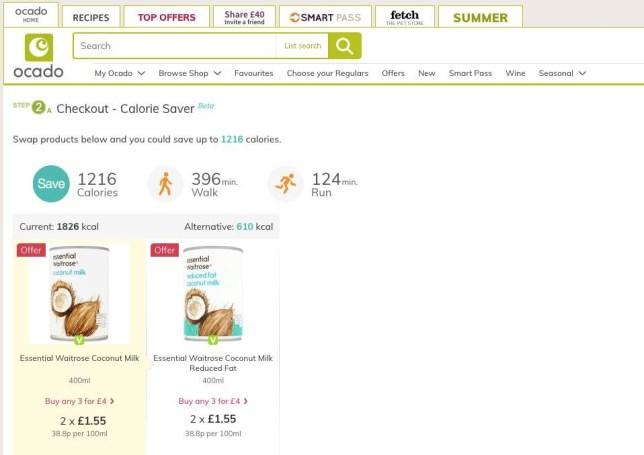 Ocado's calorie saver Provider: Ocado