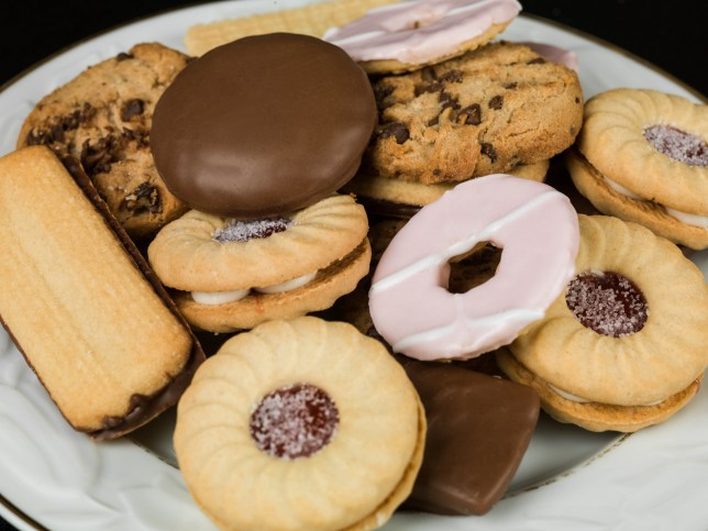 Selection of Teatime Biscuit Snacks Served on a Plate