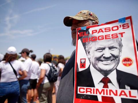 Anger at Donald Trump as he visits victims of mass-shootings