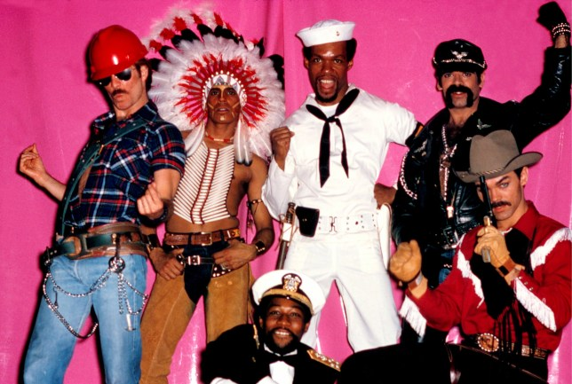 The Village People, group portrait, New York, 1978. (Photo by Michael Putland/Getty Images)