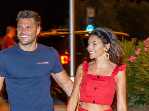 Mark Wright and Michelle Keegan can't stop smiling as they enjoy first public date in 5 months