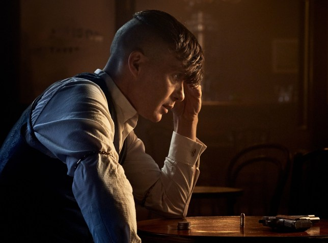 Undated handout photo issued by Robert Viglasky/Caryn Mandabach Productions Ltd. 2019 of Cillian Murphy as Peaky Blinders??? Tommy Shelby, who is seen brooding over a gun in a new picture released ahead of the show???s fifth series. PRESS ASSOCIATION Photo. Issue date: Friday August 9, 2019. The dramatic image shows the gangster-turned-MP, played by Cillian Murphy, at a table with his head in his hand. See PA story SHOWBIZ Blinders. Photo credit should read: Robert Viglasky/Caryn Mandabach Productions Ltd. 2019/PA Wire NOTE TO EDITORS: This handout photo may only be used in for editorial reporting purposes for the contemporaneous illustration of events, things or the people in the image or facts mentioned in the caption. Reuse of the picture may require further permission from the copyright holder.