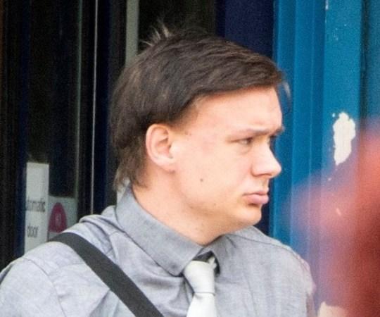 Jon-Luc McLoughlin leaving Poole Magistrates Court