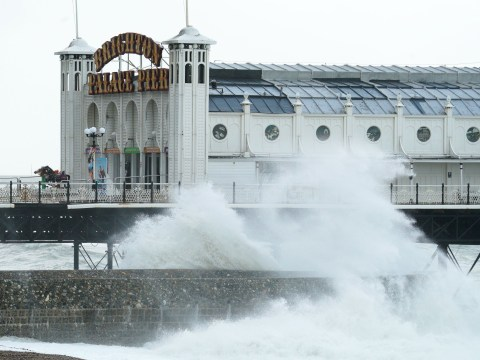 Two arrested after boy, 9, found alone sheltering under pier during storm