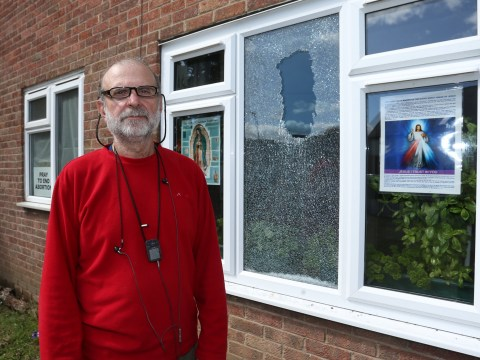 Christian who put up anti-abortion poster in window targeted by vandals