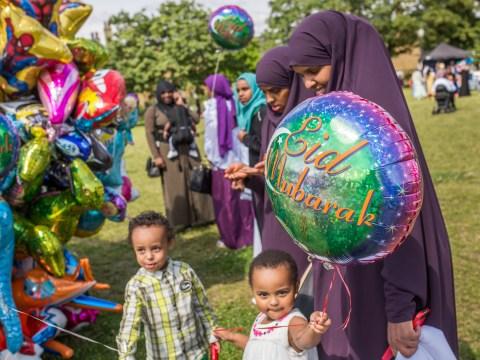 How do British Muslims celebrate Eid al-Adha?