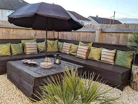Where can you get free pallets to make your own cheap garden furniture?