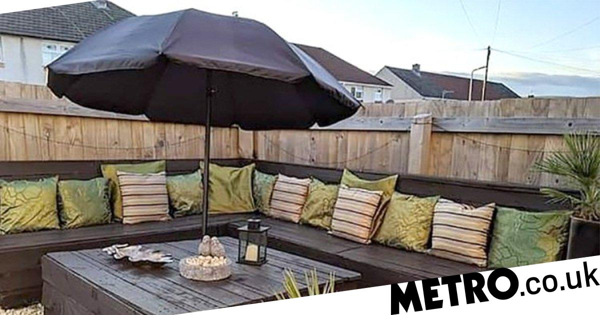 Woman Impresses Facebook With Her Diy Garden Furniture Metro News