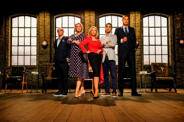 Touker Suleyman, Sara Davies, Deborah Meaden, Tej Lalvani and Peter Jones from Dragon's Den