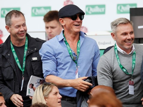 Daniel Craig goes incognito as he ditches 007 duties to enjoy a day out at the rugby
