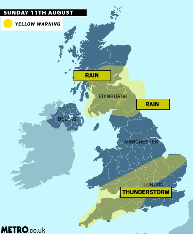 Severe weather warnings Picture: Mylo/ metro.co.uk