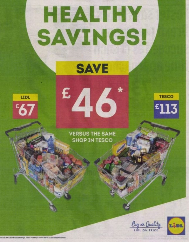 Lidl Advert Banned After Misleading Tesco Price Comparison