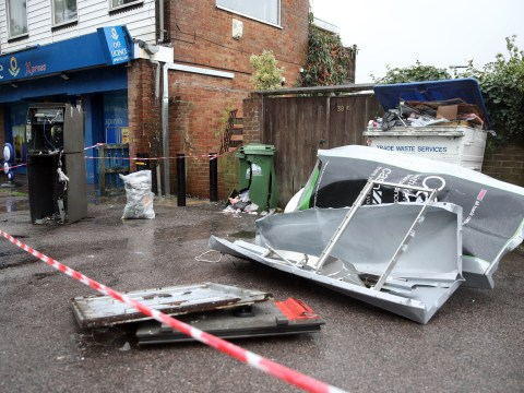 Thieves blow up ATM and escape with cash inside