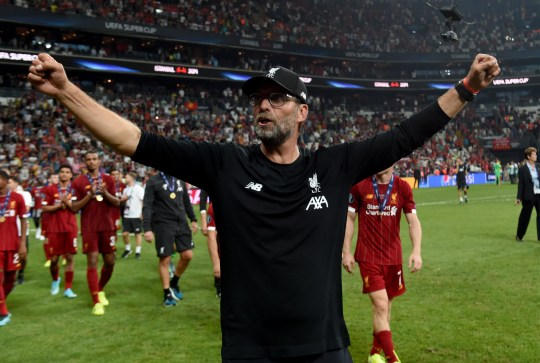 Jurgen Klopp manager of Liverpool at the end of the UEFA Super Cup match between Liverpool and Chelsea