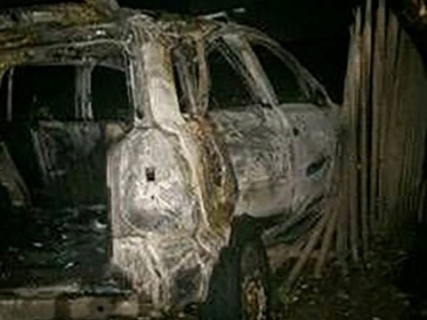 Mum and kids trapped in burning car after drunk boyfriend insisted on driving