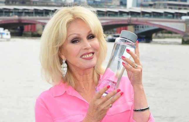 Joanna Lumley attends a photocall for Brita at the Coin Street Observation Point on the South Bank in London. Joanna is working with Brita in a bid to convince the British public to reduce consumption of bottled water at home and opt for tap water instead. PRESS ASSOCIATION Photo. Picture date: Monday August 12, 2019. See PA story SHOWBIZ Lumley. Photo credit should read: Ian West/PA Wire