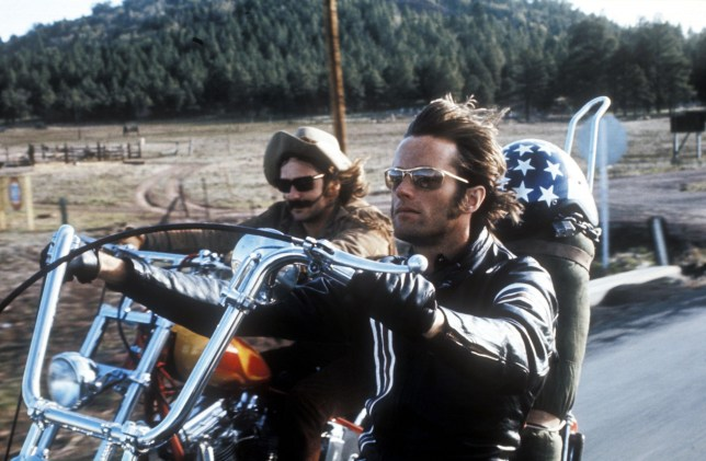 Dennis Hopper and Peter Fonda in Easy Rider