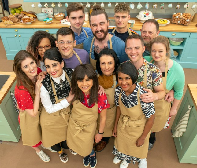 A group shot of the 2019 Great British Bake Off contestants