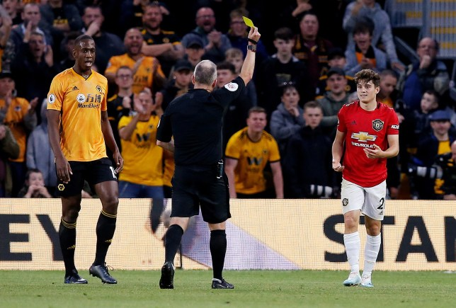 Daniel James protested his innocence to the referee