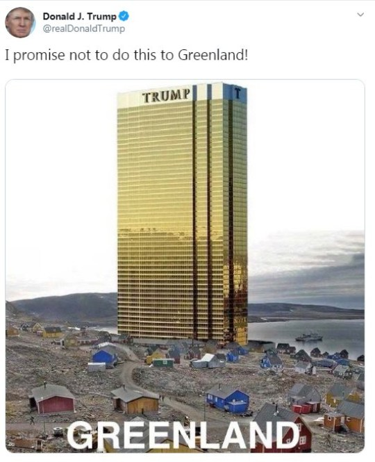 Image result for Trump greenland tweet