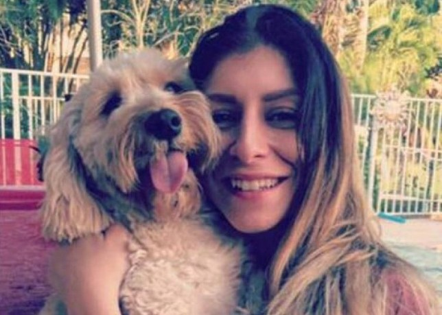 Graziella with her dog, Lola, before she was dyed