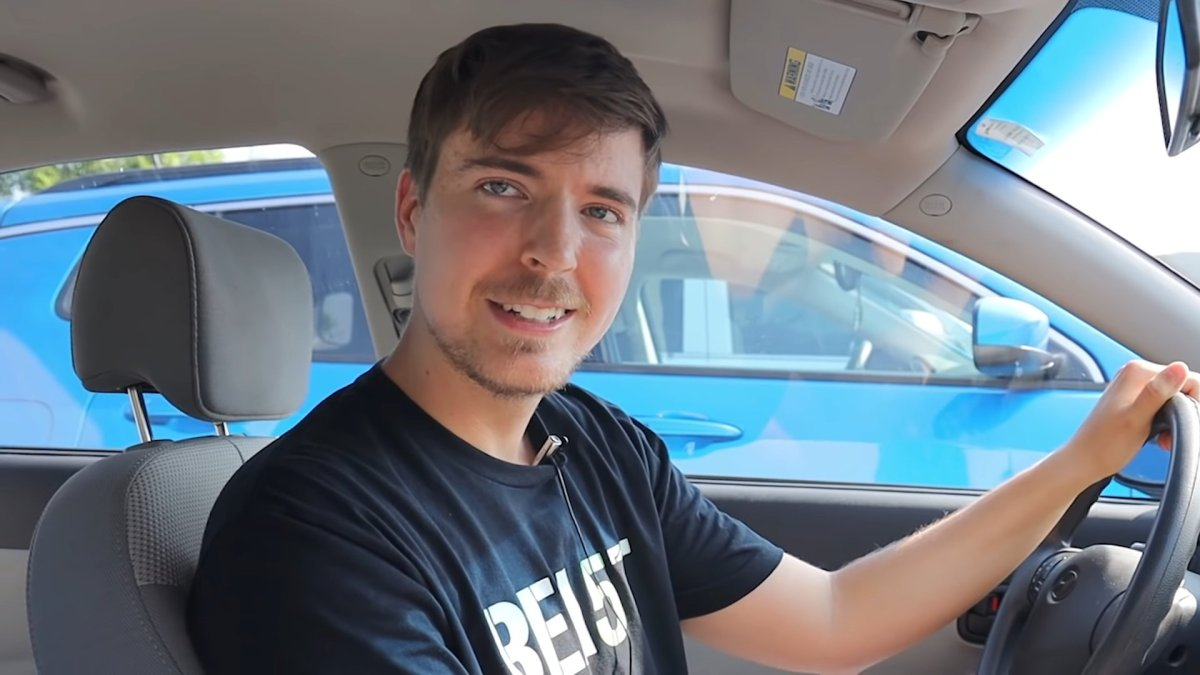 MrBeast in his car (Picture: MrBeast)