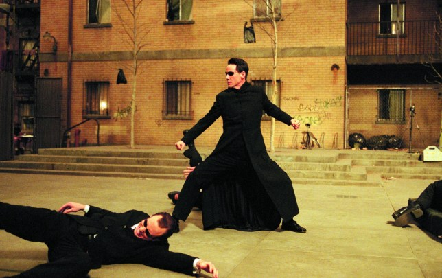 Editorial use only. No book cover usage. Mandatory Credit: Photo by Snap Stills/REX/Shutterstock (2142907z) Keanu Reeves The Matrix Reloaded - 2003